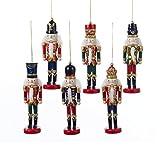 (US) Kurt Adler Wooden Nutcracker Ornaments (set of 6 Assorted)