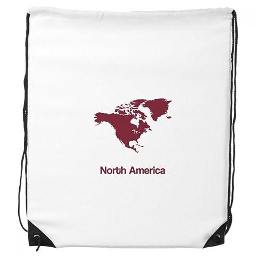 amazon com north america continent silhouette map drawstring
