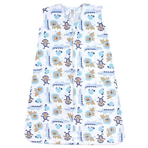 (Luvable Friends Unisex Baby Safe Wearable Sleeping Bag/Sack/Blanket, Boy Jungle Jersey 1-Pack, 6-12)
