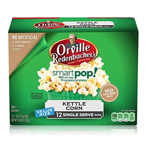 Orville Redenbacher's SmartPop! Kettle Corn Popcorn, 1.16 Ounce Single Serve Bag, 12-Count - Orville Smart Pop