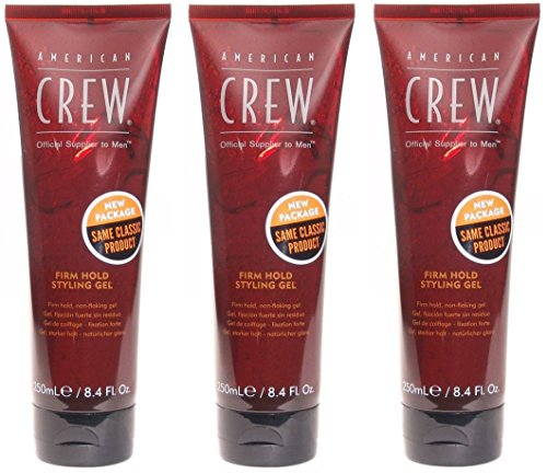 American Crew Firm Hold Styling Gel, 8.4-Ounce Bottles (Pack of (Firm Hold Gel)
