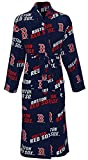 Boston Red Sox Mens Blue Lights Out Micro Fleece Plush Robe