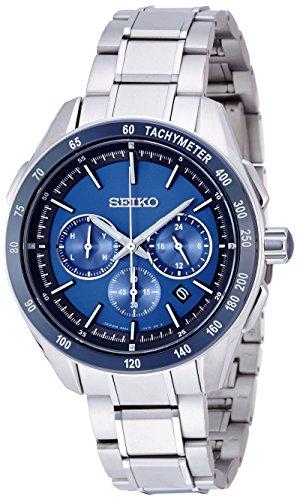 SEIKO BRIGHTZ titanium SAGA181 men's wristwatch radio solar world time blue