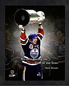 "Mark Messier Edmonton Oilers NHL Pro Quotes Photo (Size: 9"" x 11"") Framed"