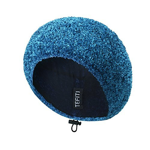 TEFITI Womens Snood Stylish Hairnet Headcover Knit Beret Beanie Cap (Light Blue)