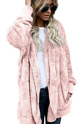 Pink Blousons et Occasionnels Femmes Jacket Cardigan Tops Les Shirts Sweat Manteaux Chaud Outercoat Furry 61wOfxTnq