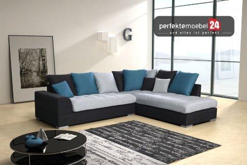 FANO Sitzsofa Couch Eckcouch Sofa Polstergarnitur Ecke Wohnlandschaft Modern (nebrasca)
