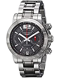 Longines Men's L36674067 Admiral Analog Display Swiss Automatic Silver Watch