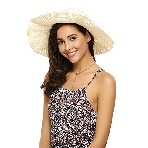 Zeagoo Summer Adjustable Boho Visor Cap Lightweight Sun Protector Flower Derby Hat for Women