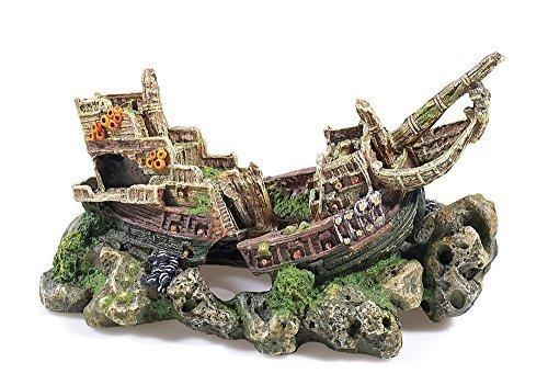 Large Galleon Shipwreck Aquarium Fish Cave Ornament Fish ...