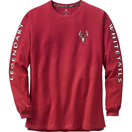 Legendary Whitetails Men's Non-Typical Series Long Sleeve Tee Cardinal Large