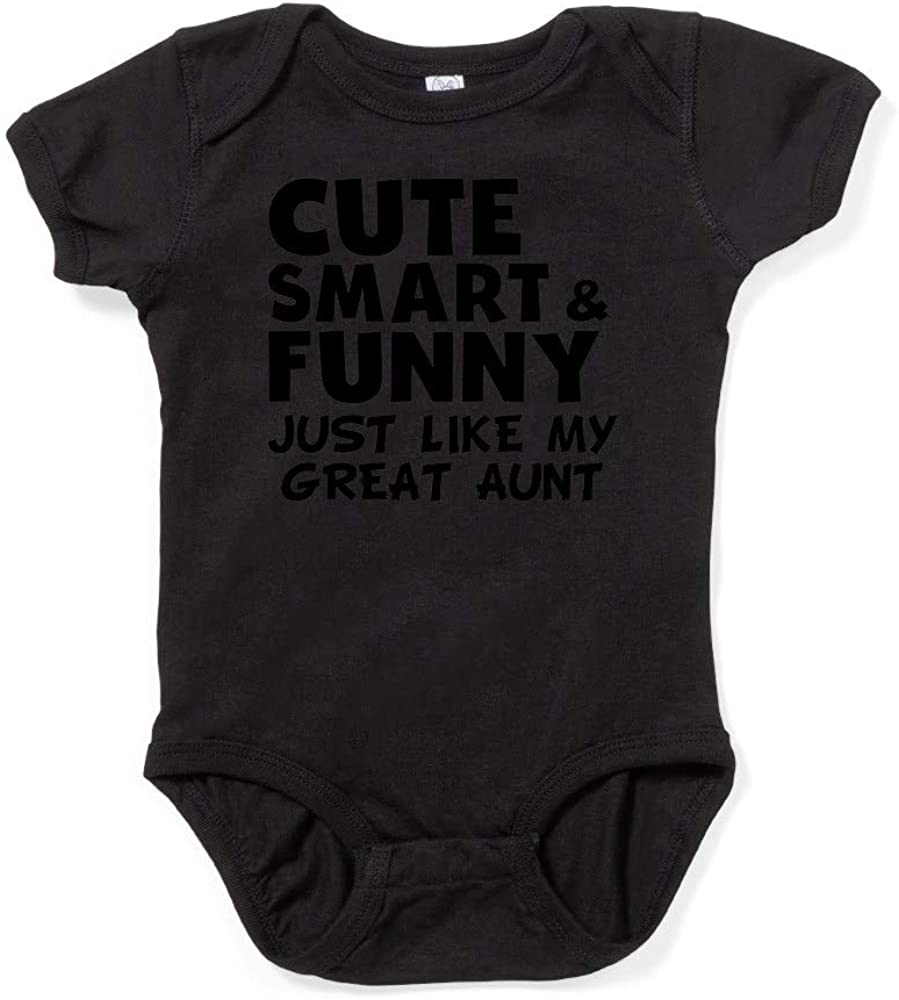 CafePress Cute Smart and Funny Like My Great Baby Bodysuit