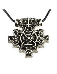 Handmade Viking York Hiddensee Style Thor Hammer Pewter Pendant Necklace