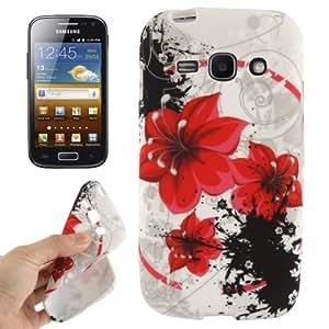 """Galaxy Ace S7272 3 / S 7275 Gel caso de la cubierta protectora de silicona ( TPU) """"Flores"""""""