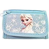Disney Frozen Elsa Tri Fold Kids Wallet Light Blue