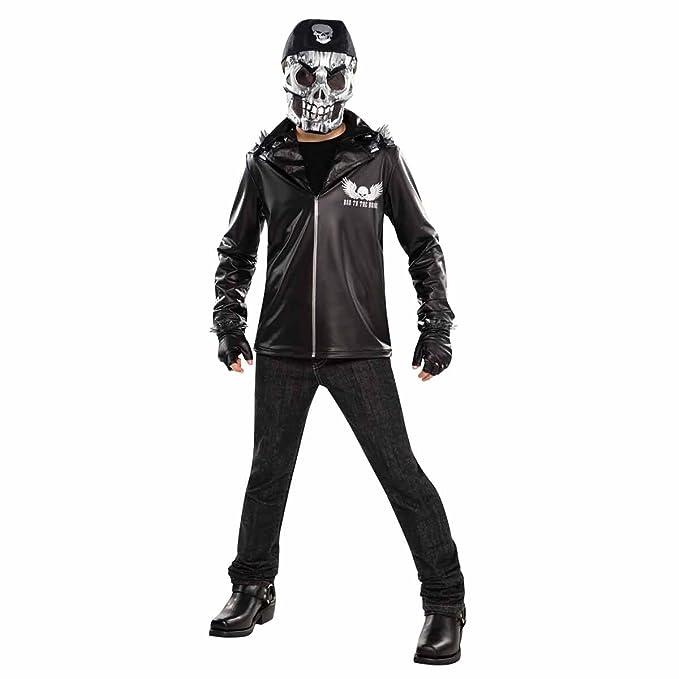 Boys Kids Childs Ninja Skeleton Halloween Fancy Dress Costume Outfit Skull Mask