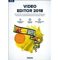 FRANZIS Video Editor 2018 2018 Die einfache Lösung zum Schneiden, Drehen, Verbessern, Konvertieren und Veröffentlichen Ihrer eigenen Videos Windows 10 / 8.1 / 8 / 7 Für PC Disc Disc