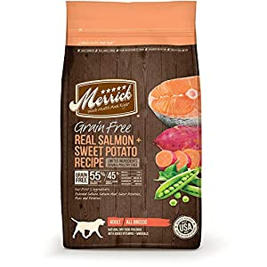 Merrick Grain Free Real Salmon & Sweet Potato Dry Dog Food. 12 LB. Bag. Grain Free Dog Food!!