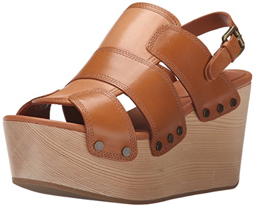 10 Crosby Womens Heath Wedge Sandal Toffee Burnished