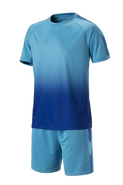 KINDOYO Niño Hombres Ropa de Fútbol Traje de Camiseta y Pantalones Cortos  Entrenamiento Competencia Ropa de Deporte Conjunto  Amazon.es  Ropa y  accesorios 6df0e7d5b43e4