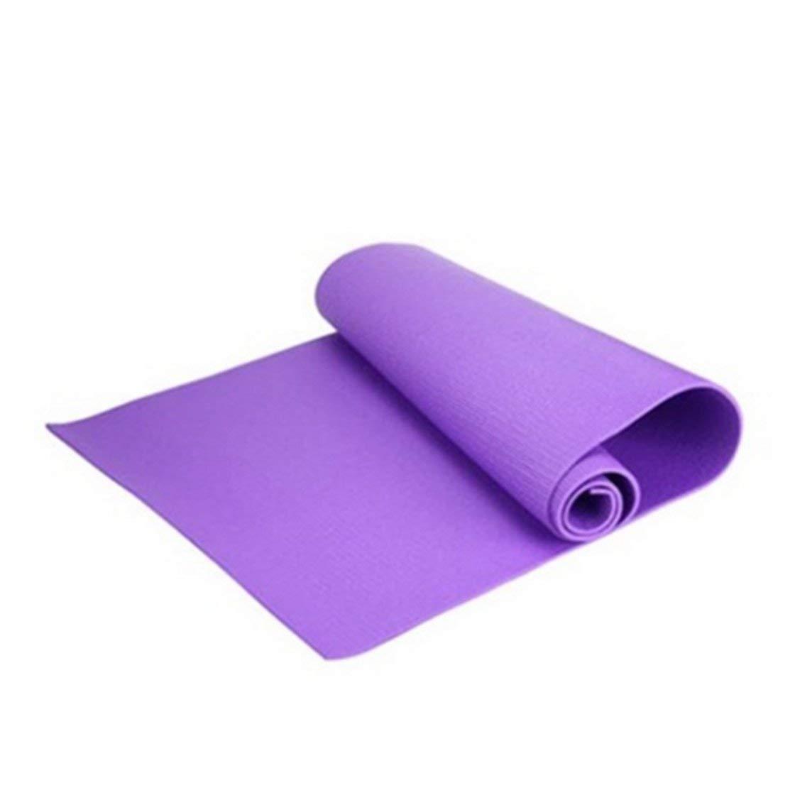 Laurelmartina 6mm Universal Thick Non-Slip Yoga Mat Exercise Pad Fitness Lose Weight 180cmX60cmX0.6cm Non-Skid Floor Play Mat