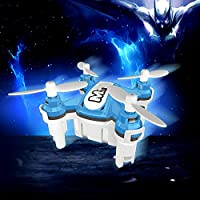 ECLEAR Mini RC Quadcopter Drone 2.4GHz 4CH 6 Axis Gyro Nano Foldable Helicopter Remote Control RTF Aircraft Toys For Adult Kids Aerial Racing
