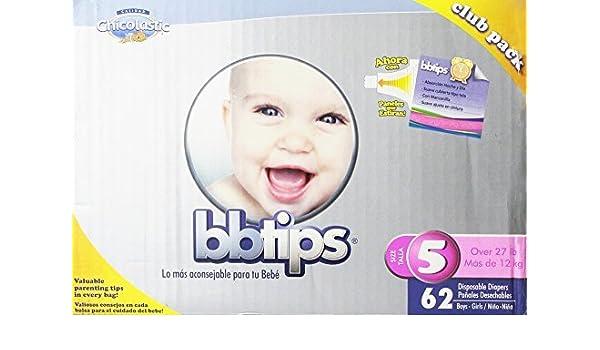 Amazon.com : Pañales desechables para bebé, Ultra X-Large, tamaño 5, 62 Count : Baby