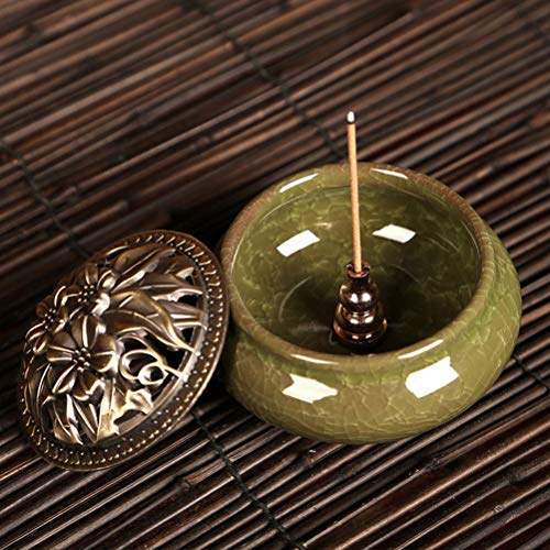 Incense Burner Censer - 1pcs Portable Incense Burner Censer Plug Alloy Copper Holder Can Be Fixed Sticks Coil - Disk Sticks Lady Censer Handmade Tower Church Nordic India American Large Ra ()