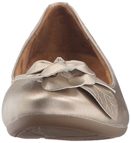 NATURAL SOUL Women's Oakley Ballet Flat, Gold, 8.5 M US by NATURAL SOUL (Image #4)