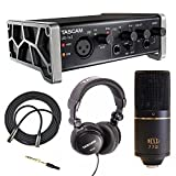 Best USB Interface With MXLs - Tascam US-1X2 Audio & MIDI Interface with MXL Review