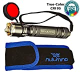 Nulumina CYRAD CG2 Focusable Broad-Spectra Flashlight with True-Color revealing LED and Exclusive Mesopic ActiveRed Night Vision Filter