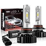 9005/HB3 LED High Beam Headlight Bulbs Conversion Kit, DOT Approved, SEALIGHT X1 Series 9145/H10 Fog Light Bulbs - Xenon White 6000K