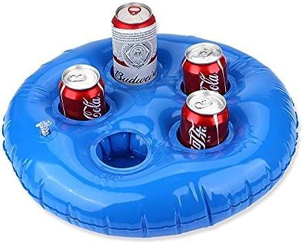FEEBRIA - Soporte Hinchable para Bebidas, para Piscina, Jacuzzi, océano y río, flotadores para Vasos para Flotar Tus Bebidas para Fiestas y Playa: Amazon.es: Juguetes y juegos