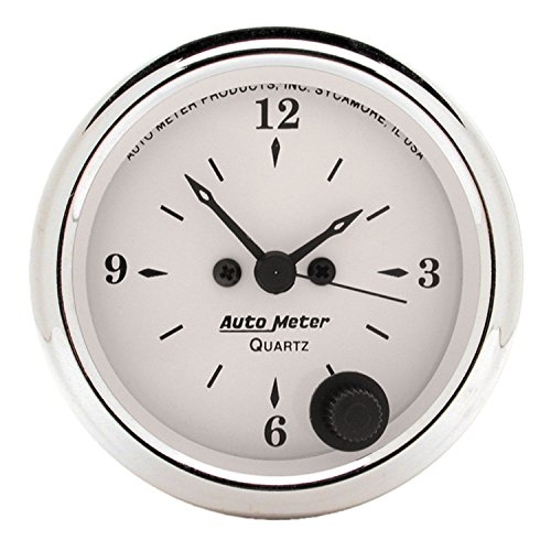 Auto Meter 1686 Old Tyme White Clock by Auto Meter