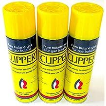 Clipper Pure Premium Butane 7x Refined Fuel Gas Lighter Refill 4.89 oz Lot of 3