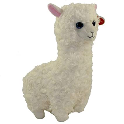 8344097a198 Ty 41216 Lily - Lama Beanie Babies in White