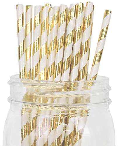 Just-Artifacts-Decorative-Paper-Straws-100pcs-Striped