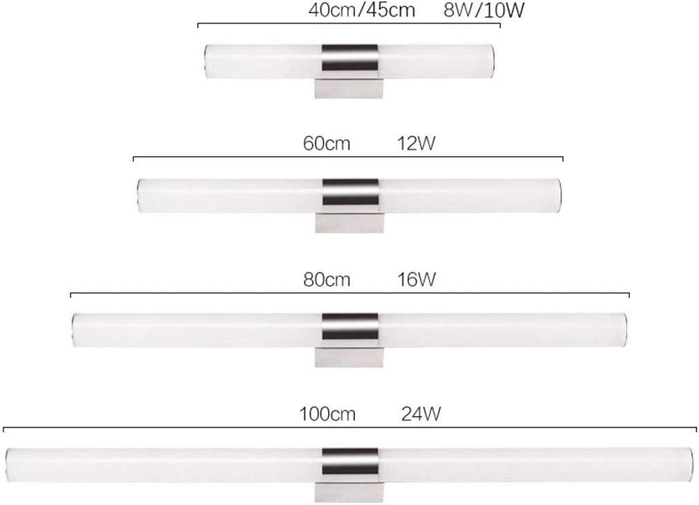 Shuai Beautiful lamp/* LED-wandlamp, spiegellamp, kast, make-up, kabinet (kleur: wit Light-40 cm) Warm wit licht 100 cm