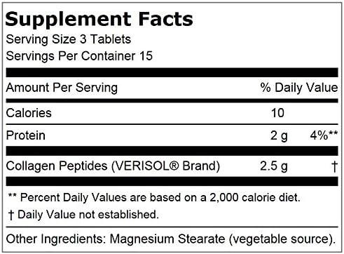 Lindberg Skin Rejuvenator with Verisol, 45 Tablets, Bioactive Collagen Peptides