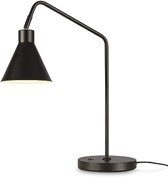 Its about RoMi LYON Lámpara de mesa con pantalla, lámpara de mesa para salón, escritorio, E27, 40 W ...: Amazon.es: Iluminación