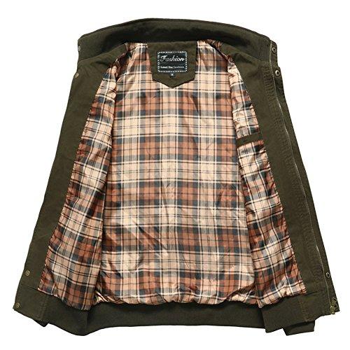 Militare Camicia Giacca Verde Uomo Yyzyy v6IRqwF