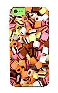 Defender Case For Iphone 5c, Food Sweets (candies) Complex Magazine Sweets Pattern