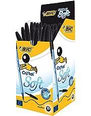Risparmia su Bic Cristal Soft Punta Media 1,2 mm Confezione 50 Penne Colore Nero e molto altro