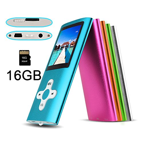 RShop MP3 MP4 Player with a 16 GB Micro SD card, Support UP to 32GB TF Card, Fashion (Mp3 & Media Players)