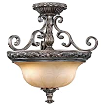 Vaxcel Bellagio Semi Flush Ceiling Light