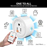 Wifi Smart Plug 2 Packs Mini Smart Outlet Work with Amazon Alexa & Google Home,Remote Control by Smart Phone with Timing Function from Anywhere,No Hub Required,ETL& FCC certification