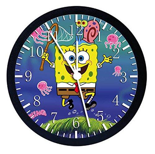 SpongeBob SquarePants Black Frame Wall Clock 10