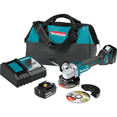 "Makita XAG04T 18V LXT BL 4-1/2""/5"" Cut-Off/Angle Grinder Kit"