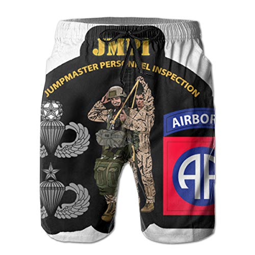 (Reality And Ideals JMPI - 82nd Airborne Div V1 Mens Swim Trunks Board Shorts White )