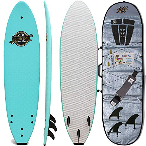 Soft Top Surfboard + Bag Package – Best Foam Surf Board for Beginners, Kids, and Adults – Soft Top Surfboards for Fun…
